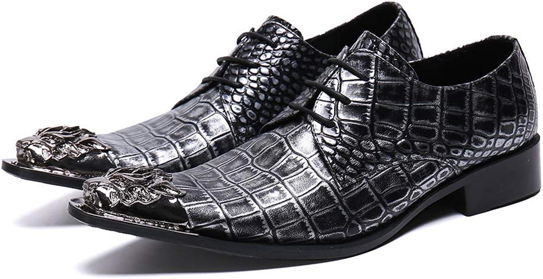 XER Chaussures en Cuir pour Hommes, Aide Faible, Style Britannique, Tenue VestiHommestaire décontractée, Tenue de soirée Classique, Taille 37 à 46, pour Les fêtes et Se marier,46