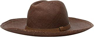 5f92c0ca Gucci Wide Brimed Unisex Nut Brown Straw Small Fedora Hat with Leather Trim  370640 2548