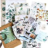 Stosts Vintage Scrapbooking DIY Stickers Pack, Decorative Antique Retro Natural Collection, Diary Journal Embellishment Supplies, Washi Paper Sticker for Art Craft Notebook Album Invitations Gift Pack