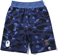 Mens Girls Pants Pattern Camouflage Stitching Men Drawstring Sports Shorts