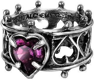 Alchemy Gothic 英国A牌 伊丽莎白一世 Elizabethan 英国925白锡水晶戒指 R156