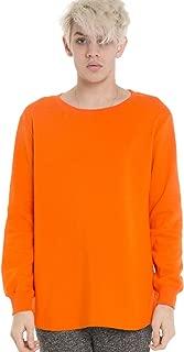 Mens Unisex Side Split Big Drop Tail Long Sleeve Jersey Sweat Top T Shirt