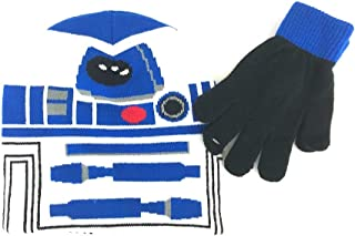 Star Wars R2-D2 Beanie Hat and Gloves Set Boys Girls Toddler White