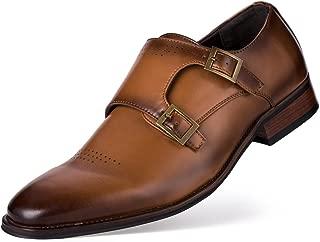 Men's Classic Oxford Dress Shoes Double Buckle Monk Strap