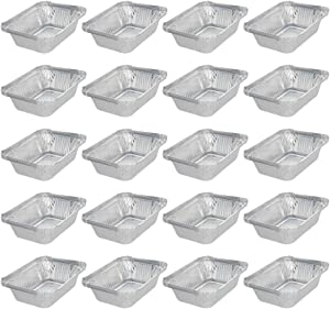 Aluminum Pans 50 Pack Disposable Foil Pans Cookware Great for Baking, Cooking, Grilling, Serving & Lining Steam Table Trays Chafers