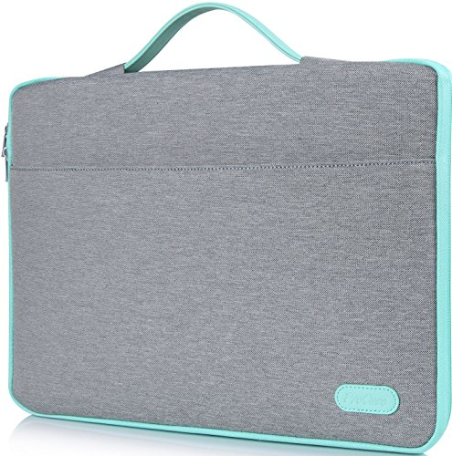 ProCase 14-15.6 Inch Laptop Sleeve Case Protective Bag, Ultrabook Notebook Carrying Case Handbag for MacBook Pro 16'/14' 15' 15.6' Dell Lenovo HP Asus Acer Samsung Sony Chromebook Computer -Light Grey
