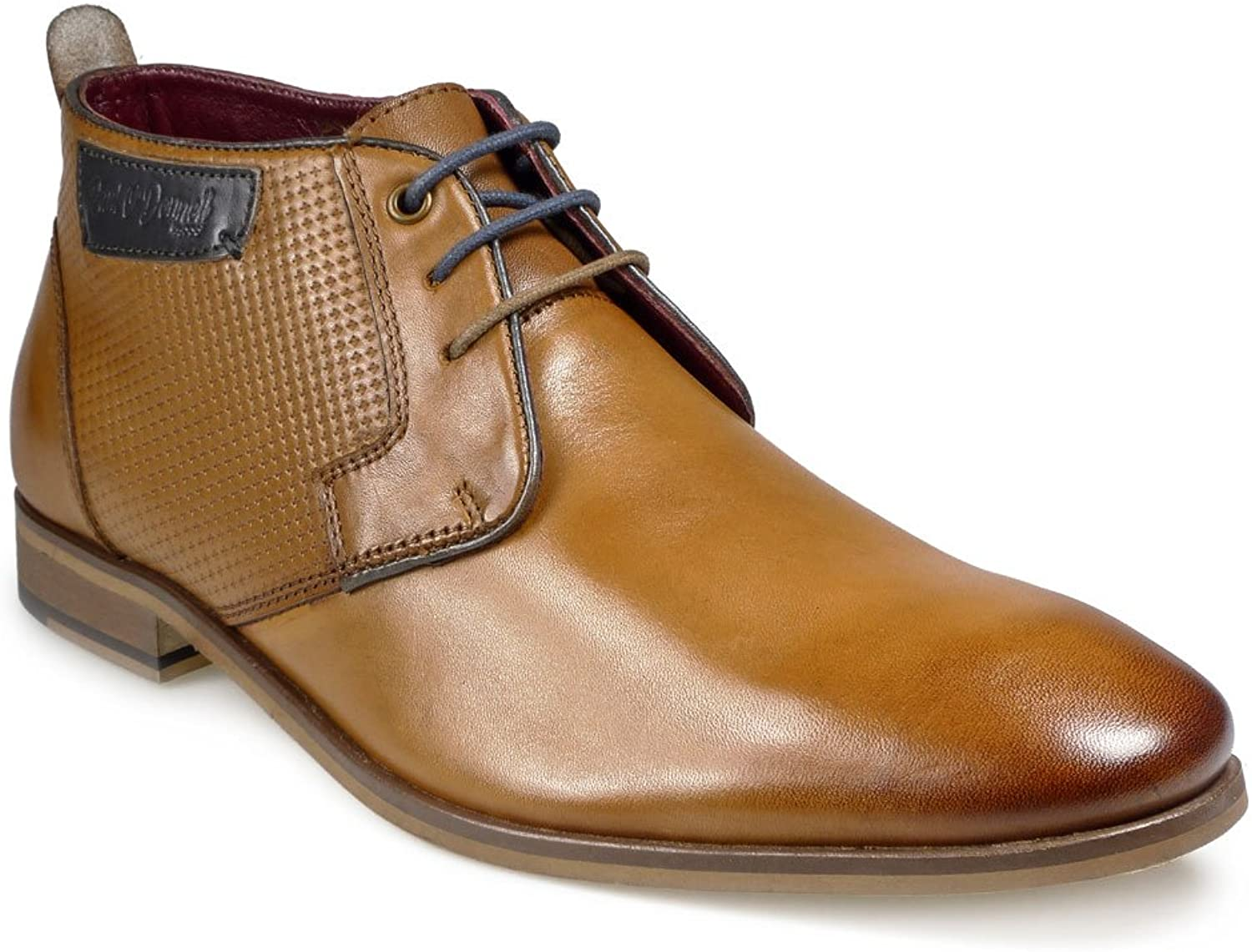 Paul O' Donnell Mens Lace up Low Rise Formal Boot - Miami Cognac