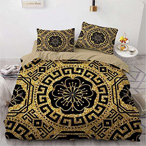 geek cook Bed sheet set queen,3D Black Design Custom Comforter Case Duvet Quilt Cover Bedding Set-008-Camel_UK King