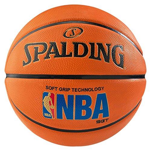 Spalding Unisex-Adult Ball NBA Logoman Sponge Basketball, orange, 7