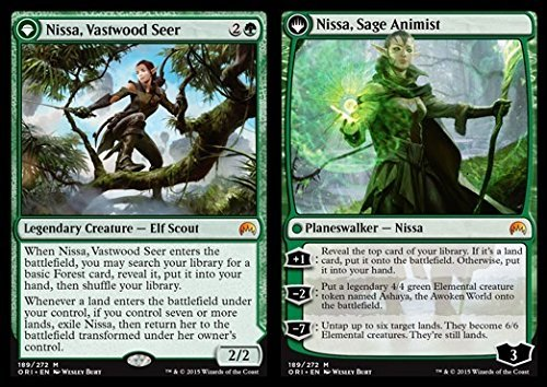 Magic: the Gathering - Nissa, Vastwood Seer // Nissa, Age Animist (089/272) - Origins - Foil by Magic: the Gathering