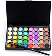 Popfeel 40 Colors Eyeshadow Palettes Highly Pigmented Shimmer Matte Eyeshadow Palette Set Cheap Make Eye Shadow Palette With Brush Makeup Palette Organizer