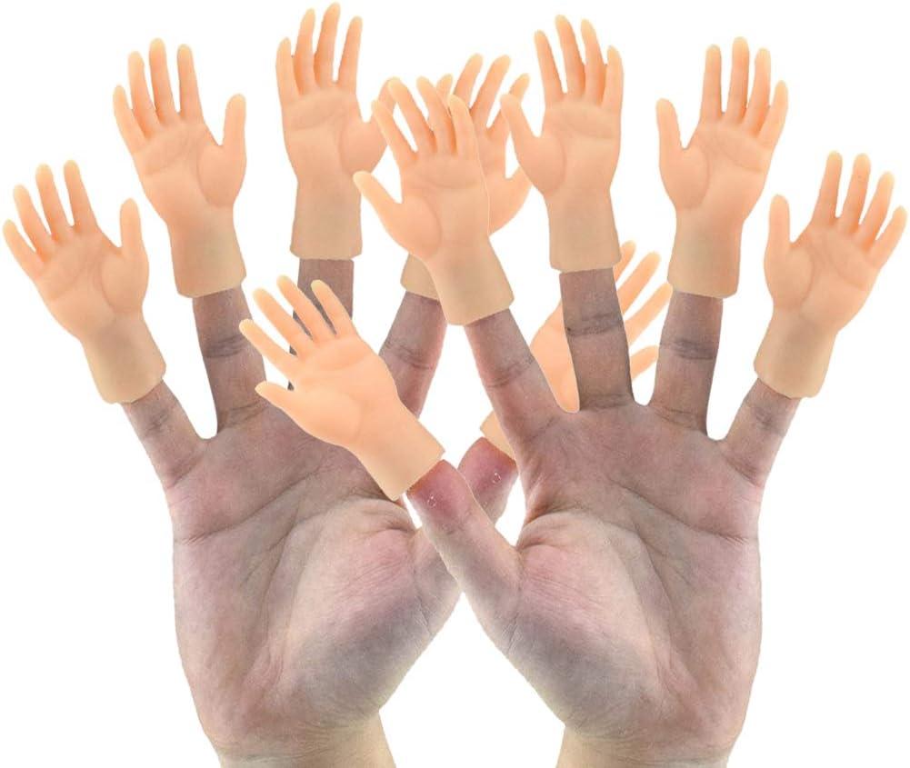 Ysoom Mini Mains /à Doigts 2//4//10 pi/èces marionnette /à Doigt Mains Gauche et Droite et Pieds Tours de Magie marionnette /à Main dr/ôle pour la f/ête de Jeu ami de la Famille