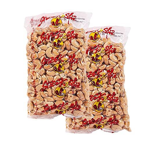 Anacardos enteros crudos, alimentos crudos, crujientes, naturales 2x500g