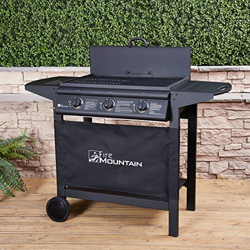 Asgard 3 Burner Compact Gas Barbecue - with Free Propane Regulator & Hose