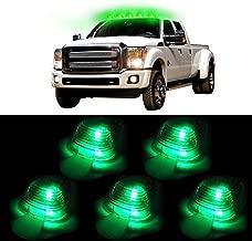 cciyu 5xClear Cab Marker Clearance Light +T10 led Light Replacement fit for 2003-2015 E150 E250 E350 E350 Super Duty E450 Super Duty F250 F350 F450 F550 Super Duty F150 (green)