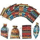 28 Bolsas de Monedas de Joyería de Estilo Egipcio Bolsa de Regalo con Cordón Impresión Azteca Bolsa Año Nuevo para Favores de San Valentín Boda Dulce