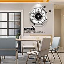 European Creative Fashion Wall Clock Simple Modern Living Room Clock Household Silent Clock Atmospheric Quartz Clock S2/16...
