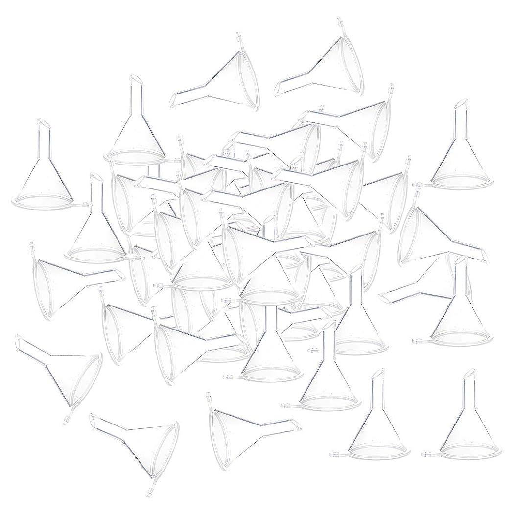鼓舞するフィットネス嵐のF Fityle 小分けツール ミニ ファンネル エッセンシャルオイル 液体 香水用 全100個 3カラー - クリア