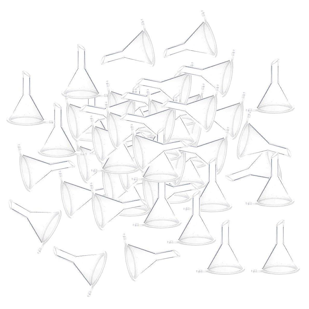 変えるボス機関F Fityle 小分けツール ミニ ファンネル エッセンシャルオイル 液体 香水用 全100個 3カラー - クリア
