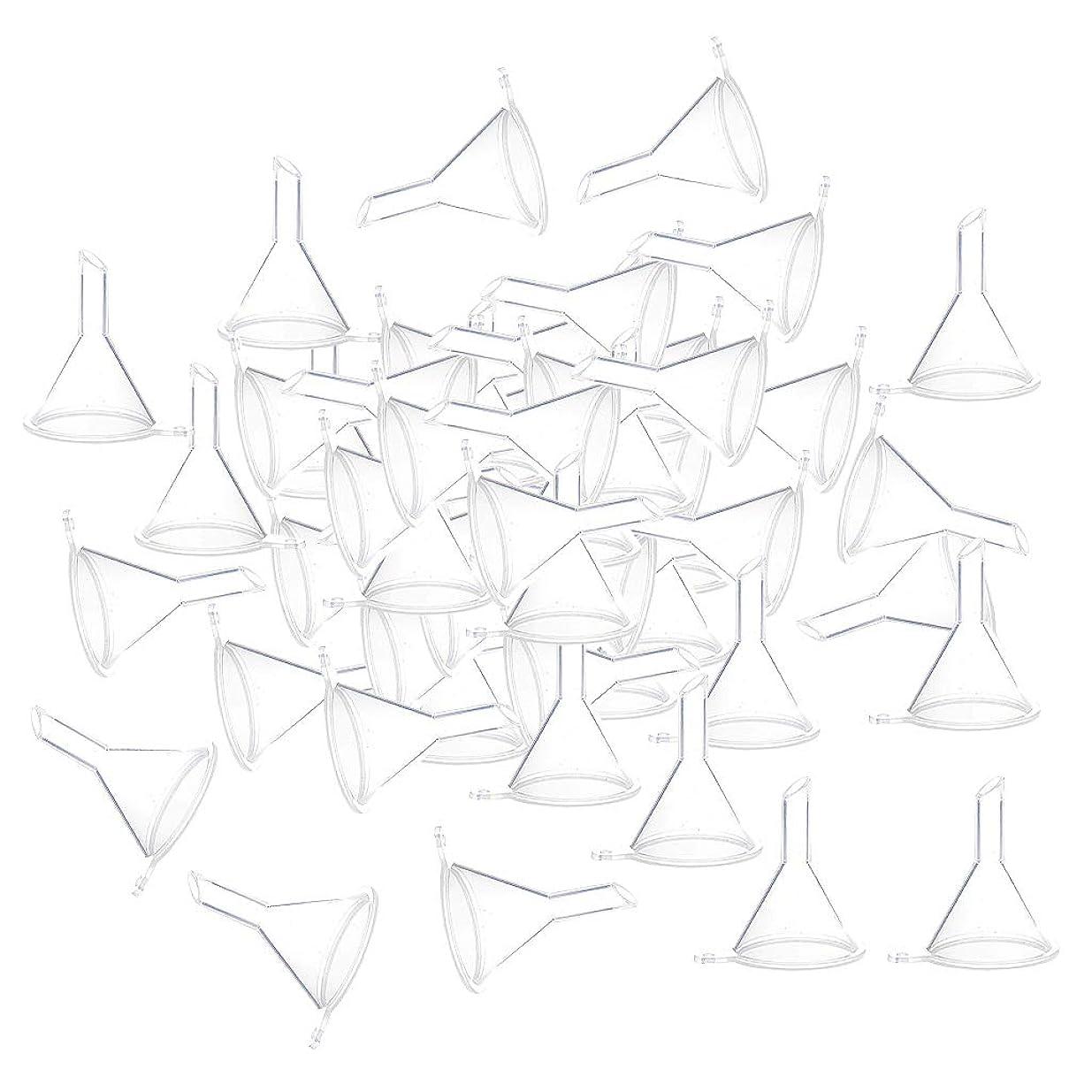 どこにでも潜在的な有効なF Fityle 小分けツール ミニ ファンネル エッセンシャルオイル 液体 香水用 全100個 3カラー - クリア