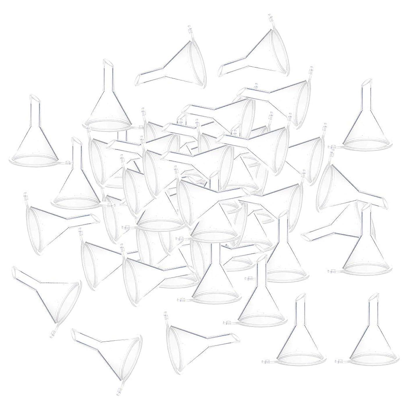 医療のピルファーシネウィF Fityle 小分けツール ミニ ファンネル エッセンシャルオイル 液体 香水用 全100個 3カラー - クリア