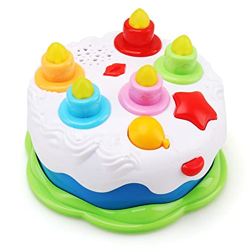 AmyBenton Kids Birthday Cake Toy For Baby Toddlers With Counting Candles Music Gift