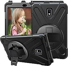 CCMAO Galaxy Tab Active 2 Case, SM-T390/T395/T397 Case, [Hand Strap]360 Degree Rotating Kickstand Full-Body Impact Protective Case For Samsung Galaxy Tab Active 2 8.0'' SM-T390/T395/T397 (black)