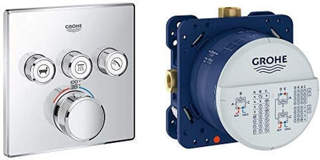 Grohe 29142000 Today's only Grohtherm Triple Trim Thermostatic Function Free shipping New Smart