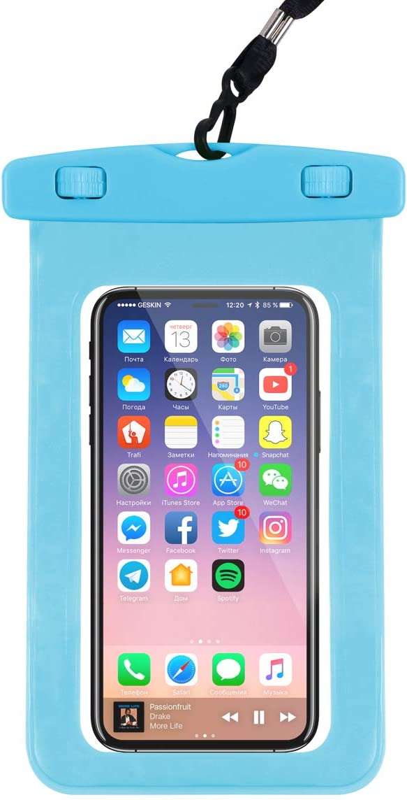Hartop Waterproof Phone Pouch,Waterproof Cellphone Case Dry Bag for Apple iPhone Xs Max/XR/X/8/8P/7/7P Galaxy up to 7.0