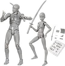Debuy Body Chan & Kun Doll Male Female DX Set PVC Movebale Action Figure Model for SHF Gifts (Male+Female, Grey)