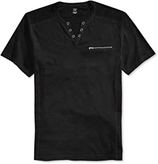 I-N-C Mens Dean Split-Neck Embellished T-Shirt