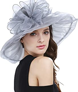 Janey&Rubbins Women's Kentucky Derby Party Hats Church Organza Dress Caps