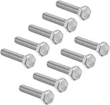 uxcell M8 Thread 35mm 304 Stainless Steel Hex Screws Bolts Fastener 10pcs
