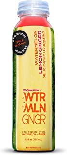 WTRMLN WTR Cold Pressed Watermelon Juice with Organic Ginger Deliciously Hydrating 100% Fresh Fruit, Pulp-Free, 12 oz