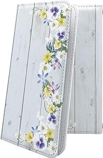ケース isai V30+ LGV35 互換 手帳型 花柄 花 フラワー パンジー イサイ プラス 木目 木目調 ウッド 木 wood isaiv30 plus かわいい 可愛い kawaii lively
