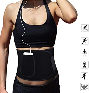 VEEMOS Waist Trainer Trimmer, Adjustable Stomach Sweat for Weight Loss and Body Slimming,Sport Fitness Sauna Slimming Belt...