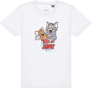 Tom Ve Jerry Baskılı Beyaz Tişört