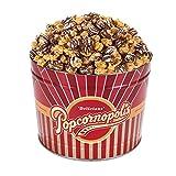 Popcornopolis Gourmet Popcorn 1.26 Gallon Tin, Filled with Zebra Popcorn