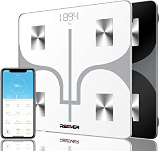 REDOVER-Bluetooth Body Fat Scale with Free IOS and Android App, Smart Wireless Digital Bathroom Scale for Body Weight, Bod...