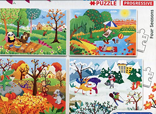 Clementoni 21408 Supercolor - Puzzle 4 Estaciones