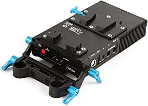 Fotga DP500III DP500 Mark III CCUPS Power Supply System for Canon 5D2 Mark 5D3 Mark III With 15mm Rod Adapter Rod Clamp DSLR Rig Lock Charging for V-Mount Battery  for Canon 5DII 5DIII 7D