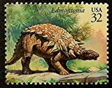 Edmontonia Dinosaur, USA -Handmade Framed Postage Stamp Art 14493AM