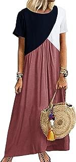 color block long dress