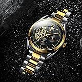 Hellery TEVISE Men Relojes Mecánicos Automáticos para Hombres Reloj De Pulsera Luminoso Oro