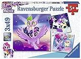 Ravensburger-4005556080274 Puzzle 3 x 49 Piezas, My Little Pony, Multicolor, (8027)