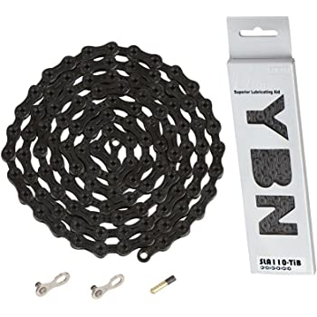YBN Ti-Nitride Black 10-speed Chain 116 Links 5.9mm Wide with One Reusable
