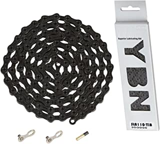 New YBN 11 Speed S11 Bike Bicycle Chain Road MTB 126 Link /& Master Link Black