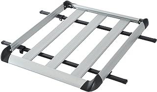 HOMCOM Gepäckträger Dach Gepäckkorb Dachträger Universal 75kg, Alu+ABS, Silber, 110x90x8cm