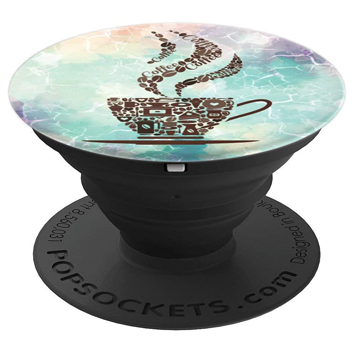 Smoke Flow Coffee Cup On Marble Design Caffeine Lovers Gifts - PopSockets Grip and Stand for Phones and Tablets
