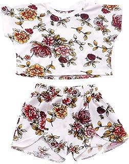 Taste Breite Beinhosen Outfits L/ässig T-Shirt Sch/öne Sets Sommer Kleidung Kleinkind Kinder Baby M/ädchen Mode Punkte Hemd Wei/ß Fliegenh/ülse Top